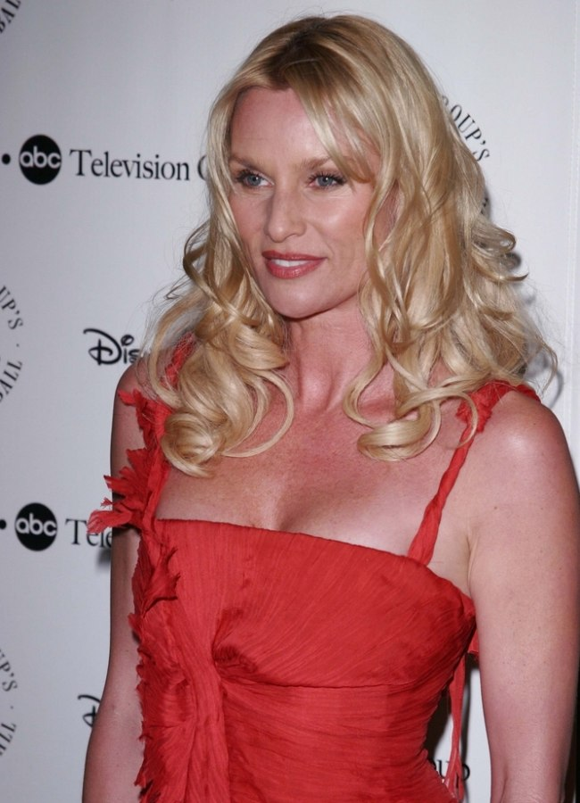 Nicollette Sheridan Wearing Her Hair In Long Glossy Curls