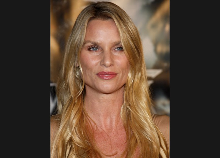 Long hairstyle for high cheekbones - Nicollette Sheridan