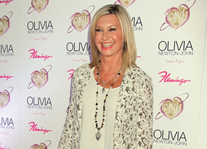 Hairstyle and outfit for an Olivia Newton John look