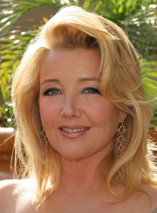 Melody Thomas Scott's shoulder length hair with airy volume