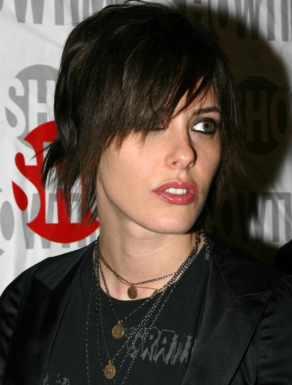 Katherine Moennig Shaggily Short Haircut Chopped Look