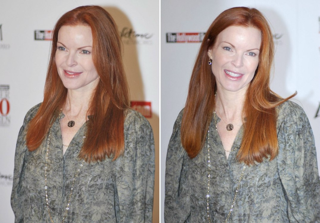 Marcia Cross Sporting A Party Red Hair Color And Jeannette Mccurdy