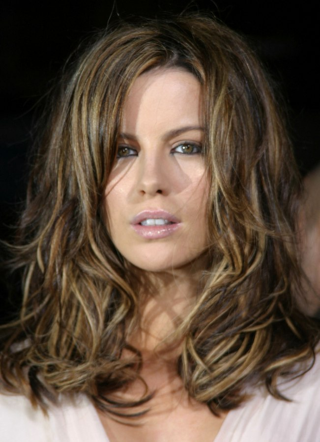 kate beckinsale hair styles kate beckinsale s tousled hair with colors 8801