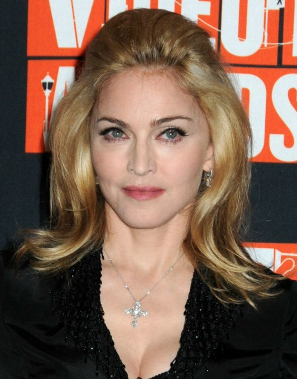 Madonna S Hair With The Top Combed Back And The Sides