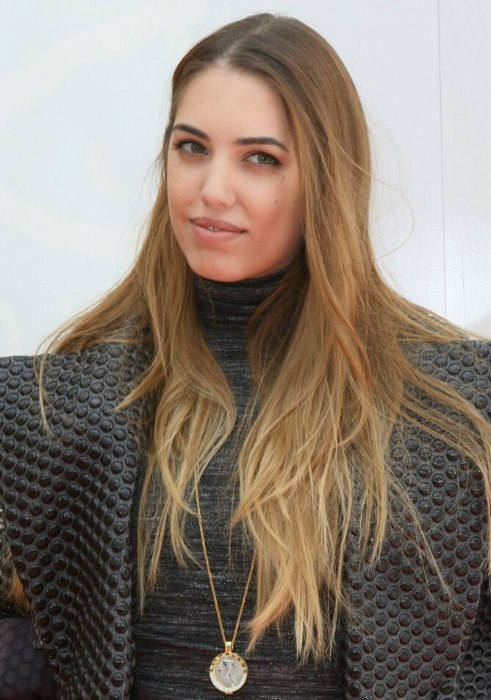 Amber Le Bon wearing her hair long with layers