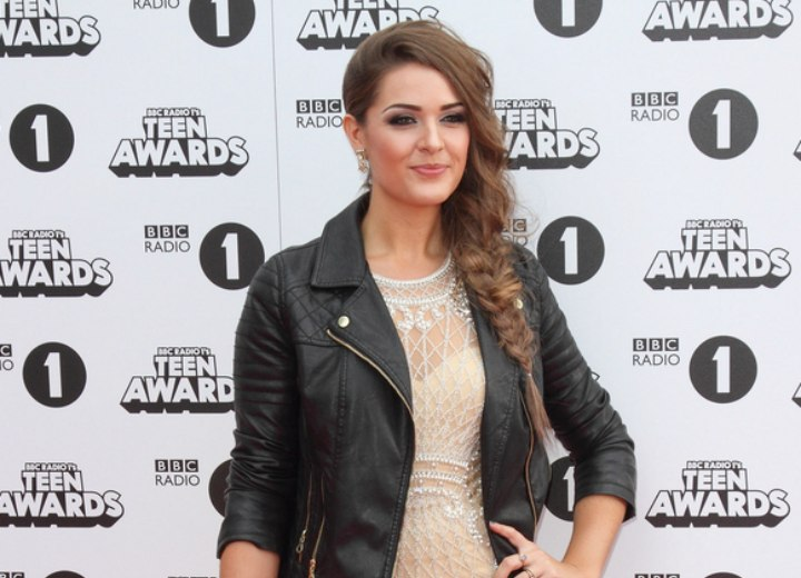 Anna Passey - Rocker look with a lace dress and leather jacket