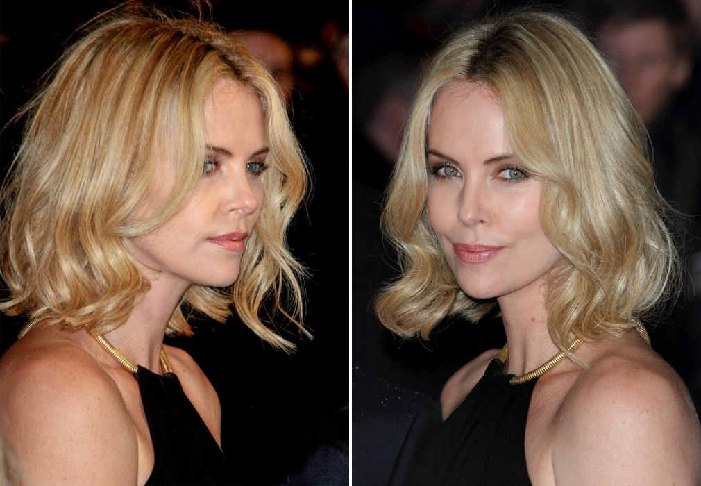 Pleasant Charlize Theron Trendy Bob Haircut With Variations Of Blonde Hairstyle Inspiration Daily Dogsangcom
