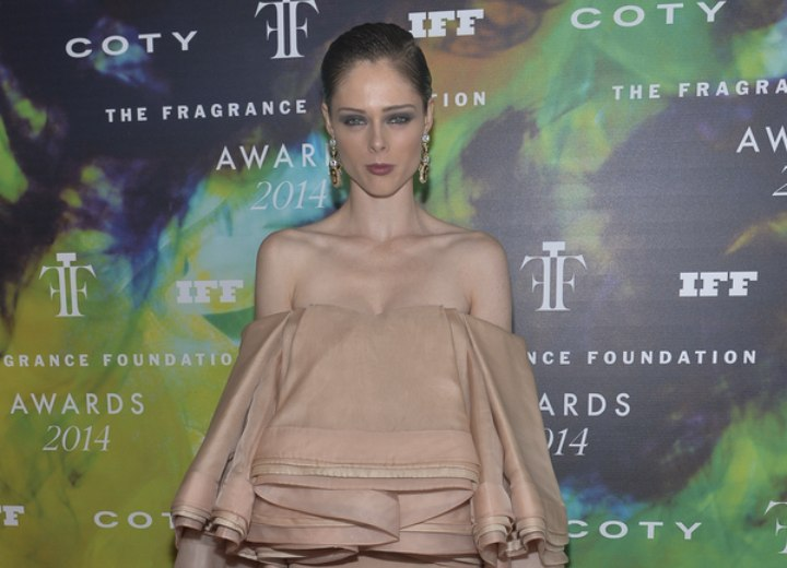 Coco Rocha - Dress and short gelled hair for a sophisticated look