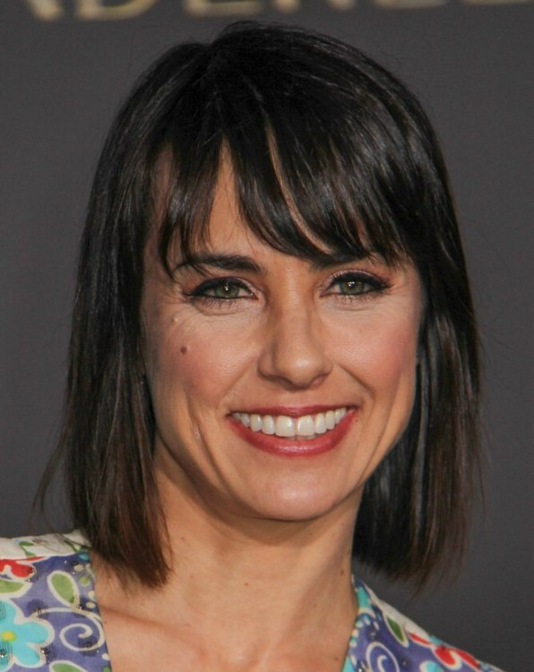 Constance Zimmer Modern Bob Hairstyle With Side Swept Bangs