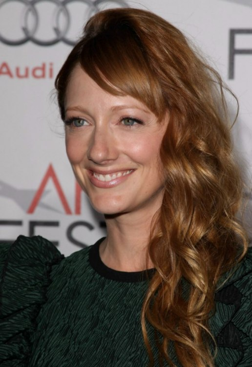 Groovy Long Haired Redhead Judy Greer Wearing Her Hair In An Easy To Fix Short Hairstyles Gunalazisus