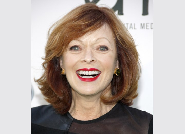 Frances Fisher - Youthful hairstyle for women after age 60