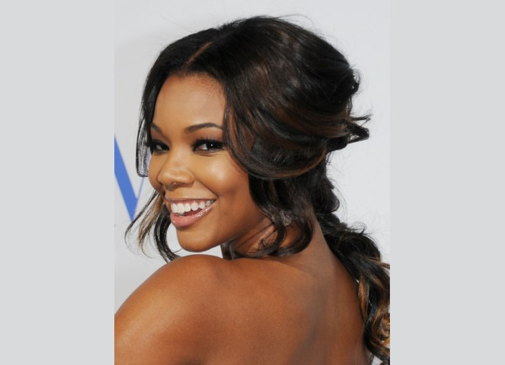 Gabrielle Union wearing her hair up