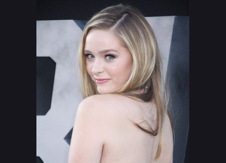 Back view of Greer Grammer's hair
