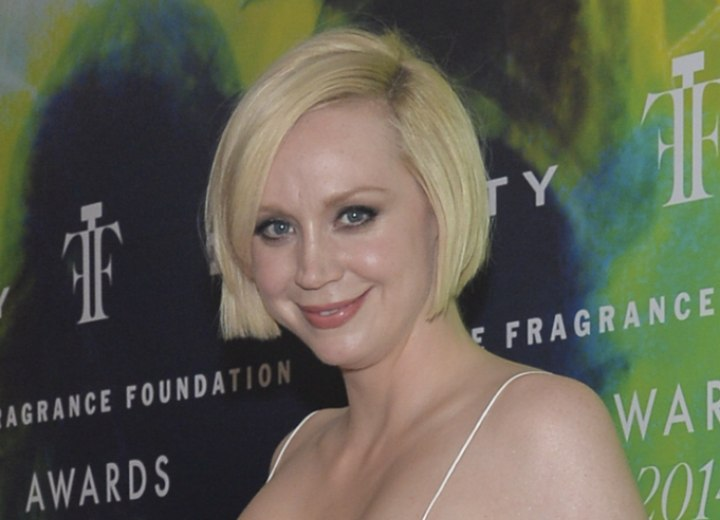 Bob cut for thin hair - Gwendoline Christie