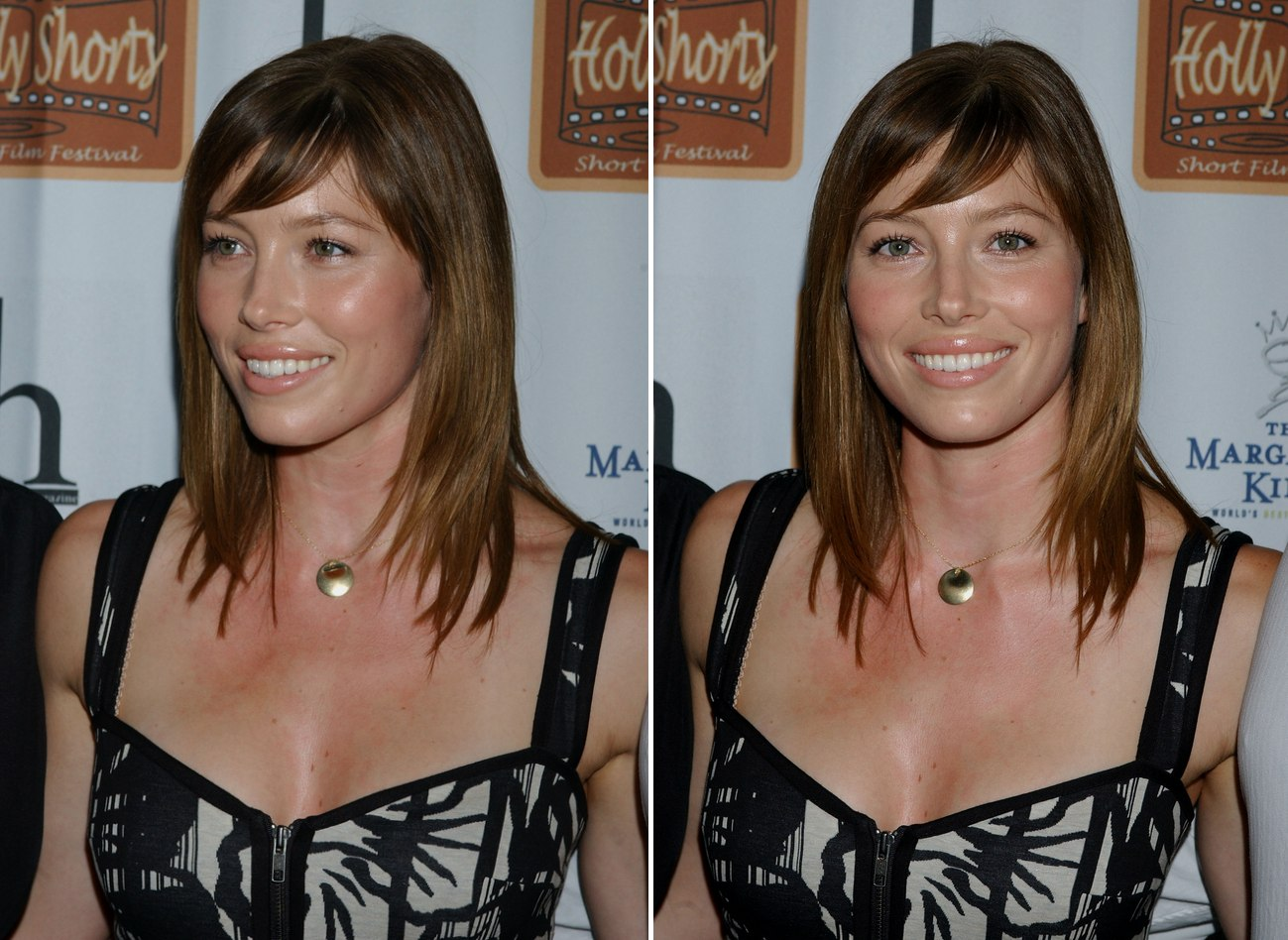 Rebecca Hall Sporting A Shoulder Bob And Jessica Biel With Hair