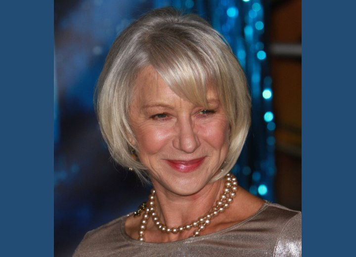 Crown view of Helen Mirren's hair