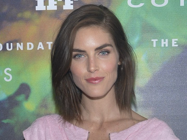 Mid length hair with layered tips - Hilary Rhoda