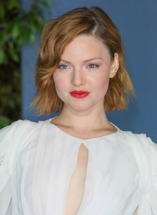 Holliday Grainger Curly Bob For Ginger Colored Hair