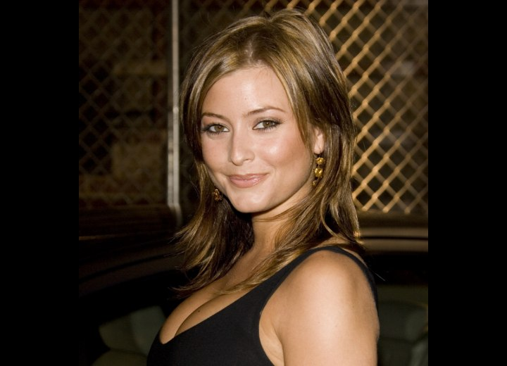 Side view of Holly Valance's hair
