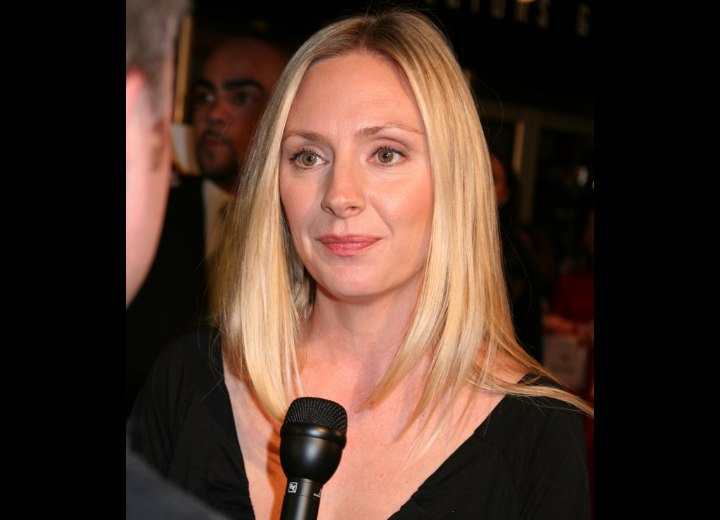 Hope Davis modern long hair look