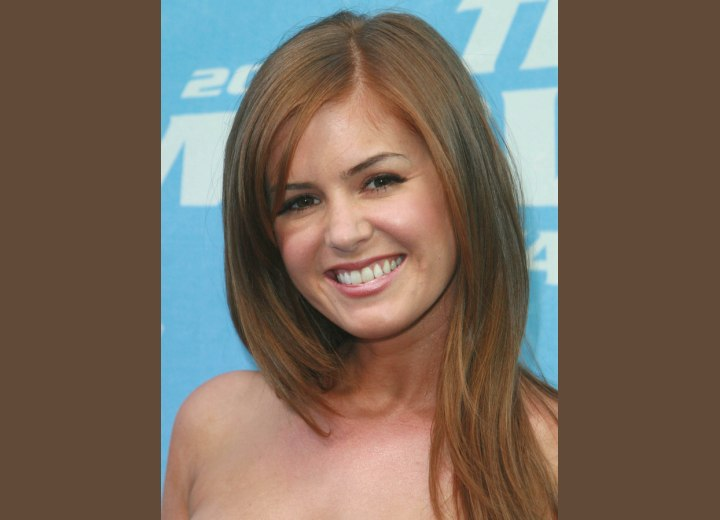 Long hairstyle with side bangs - Isla Fisher