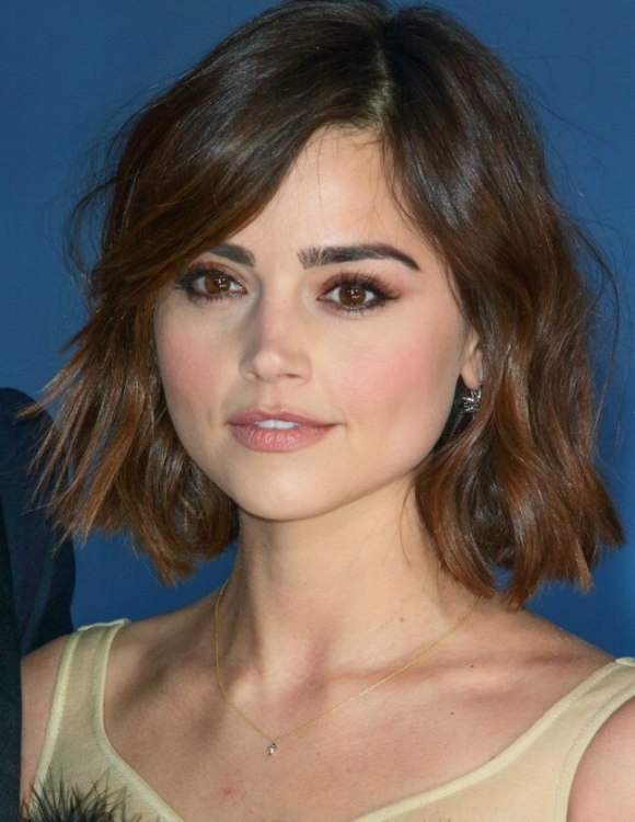 Hair Spray For Black Hair >> Jenna Coleman wearing her hair in a bob with side swooping bangs