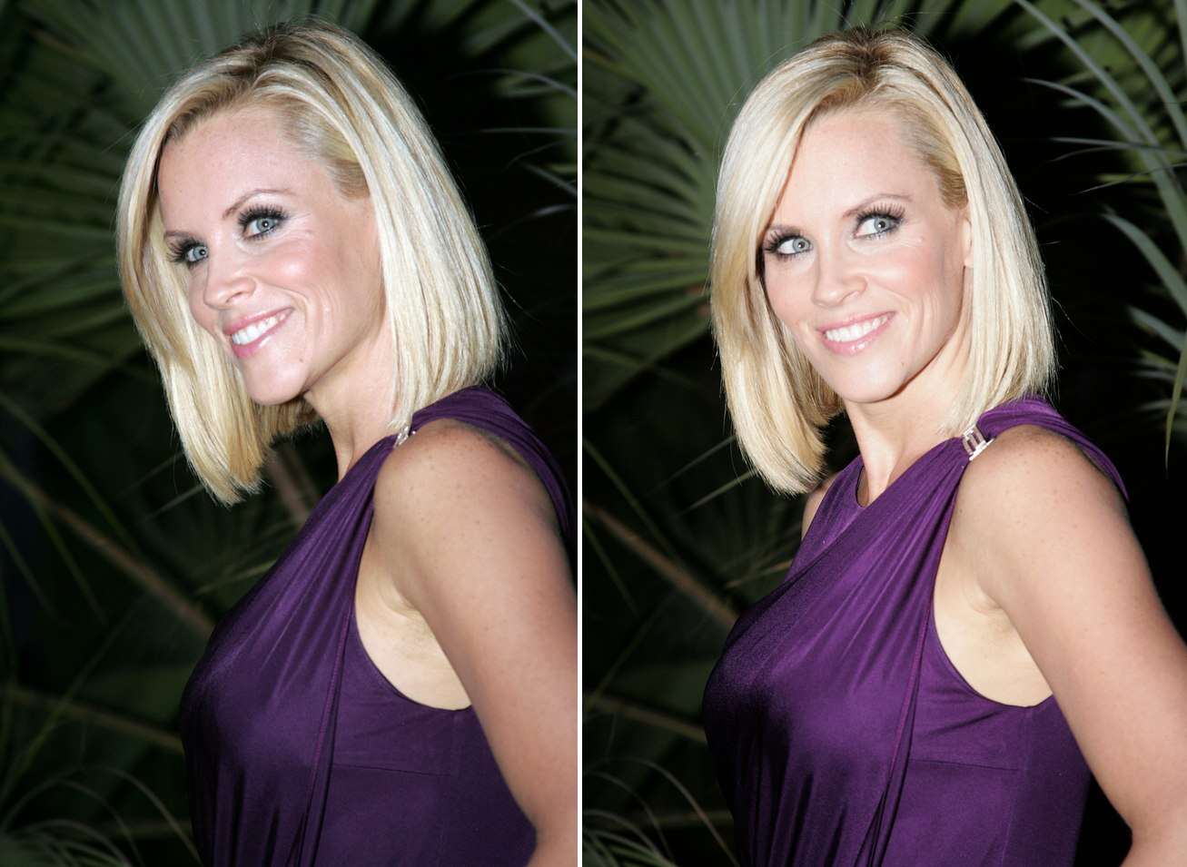 Jenny Mccarthy With Bluntly Fashioned Hair And Jennifer Love Hewitt