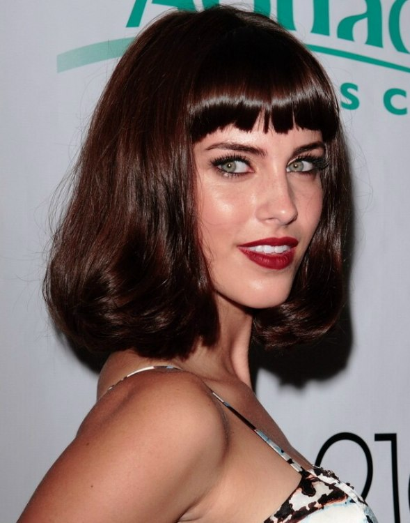 Jessica Lowndes Bob Hairstyle With Volume And Bangs Cut
