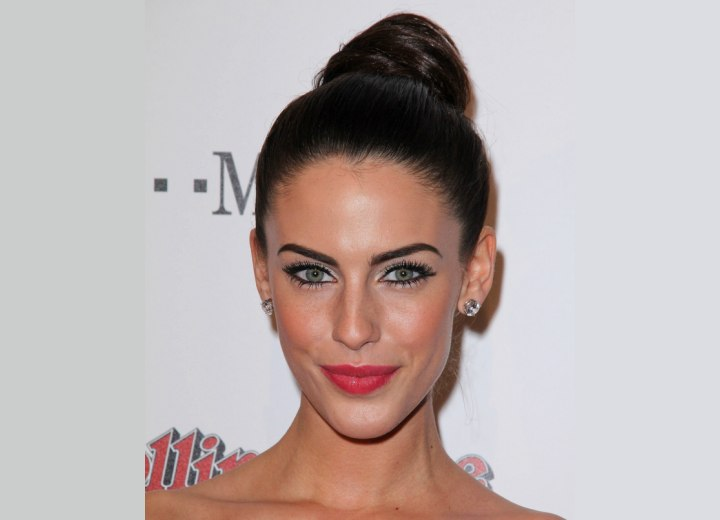 Jessica Lowndes wearing her hair away from her face