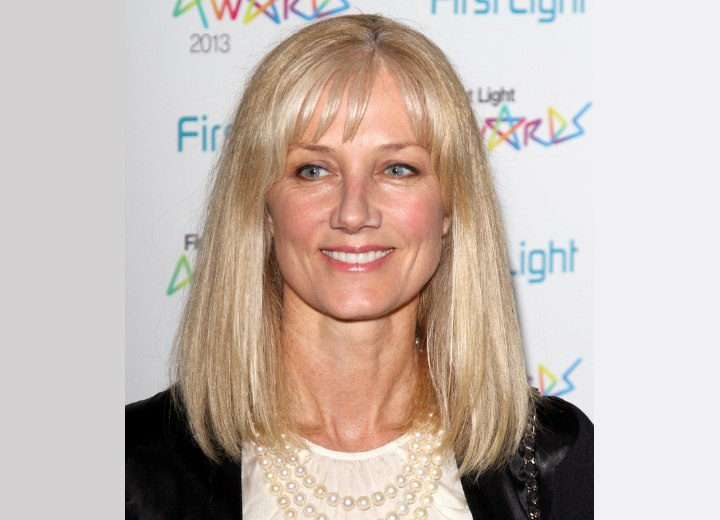 Joely Richardson's modern shoulder-length hairstyle