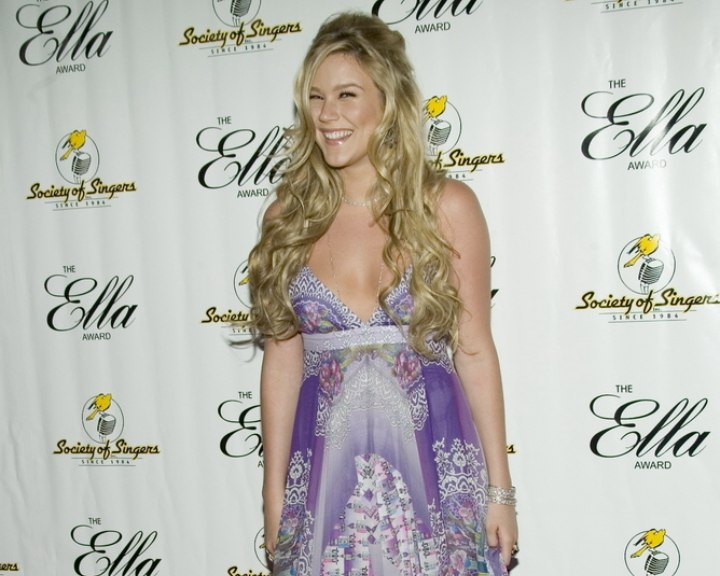 Joss Stone wearing a colorful flowing gown