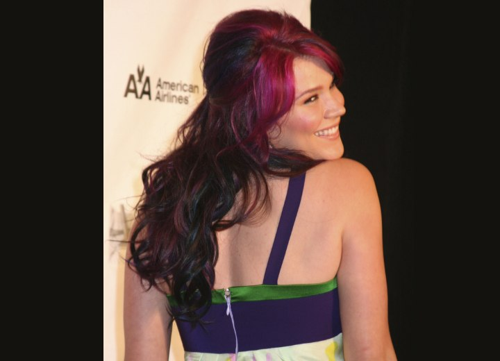 Joss Stone with purple hair