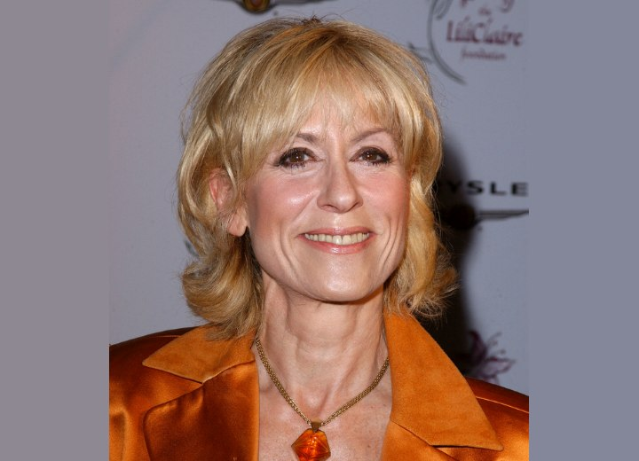 Judith Light's soft and feminine hairstyle