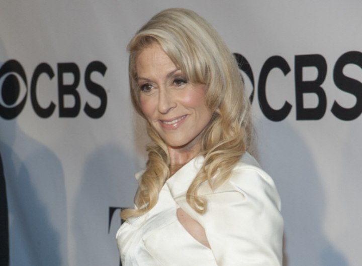 Judith Light with long curled hair