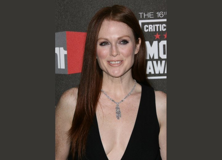 Julianne Moore's long straight hairstyle