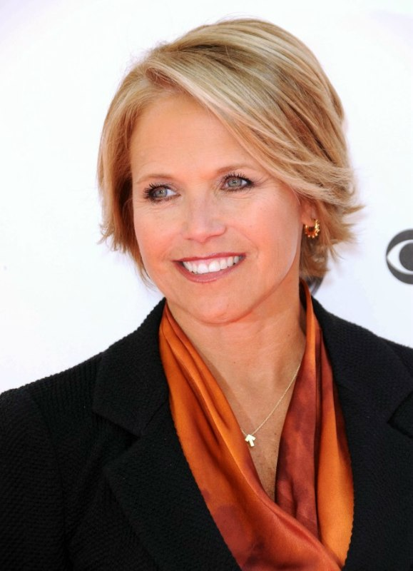 Katie Couric With Short Hair For A Professional Look
