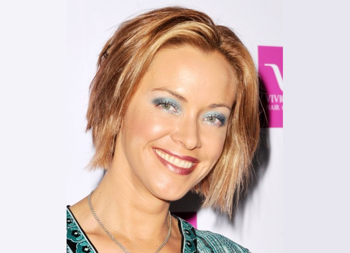 Kristanna Loken with short hair
