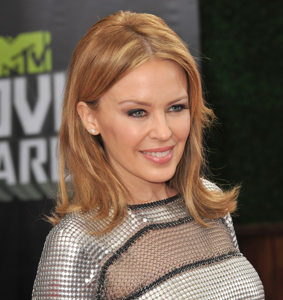 Shoulder Length Kylie Minogue Signature Hairstyle