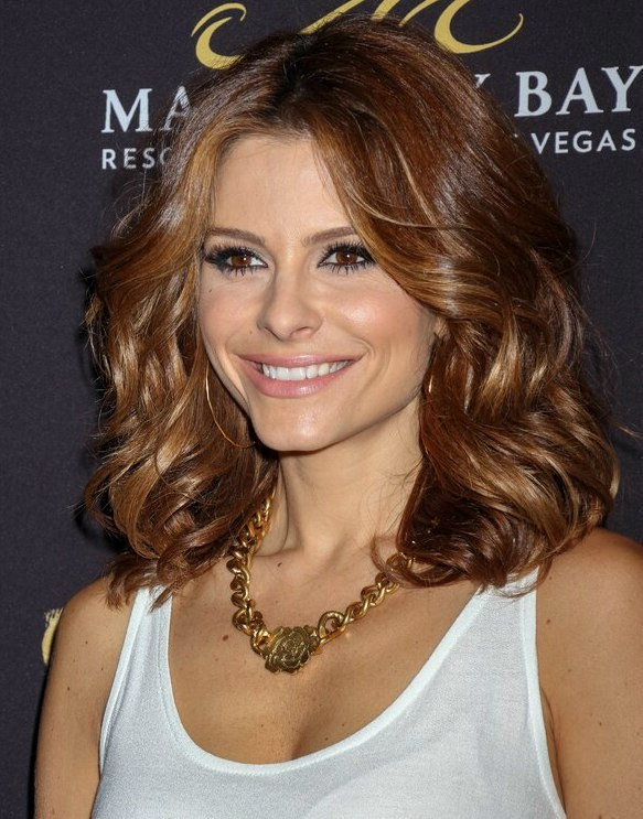 Maria Menounos Ombr Lightened Hair Graduating From Brown To Copper
