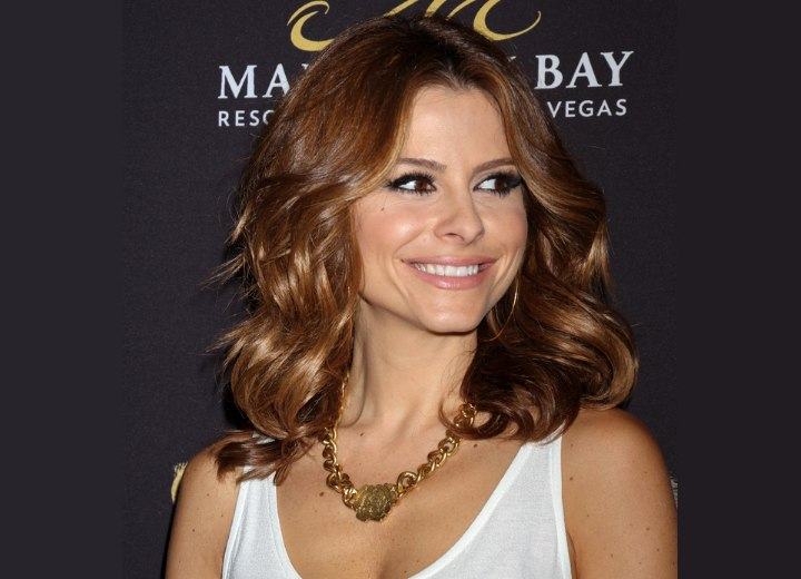 Maria Menounos - Brown hair with an ombr� effect
