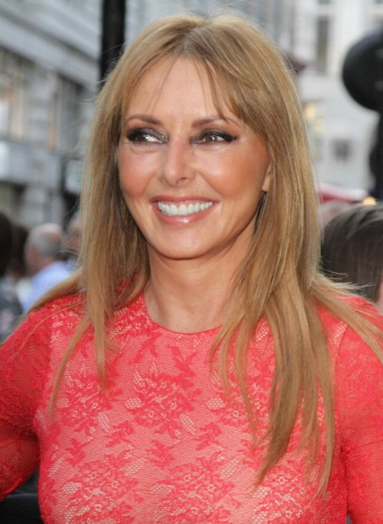 Carol Vorderman Long And Youthful Looking Hair For Middle Aged Ladies