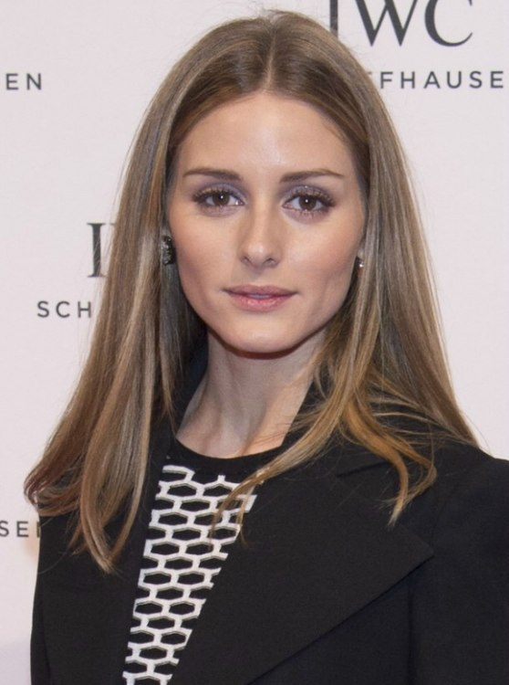 Olivia Palermo Wearing Her Hair In A Sleek And Simple Shoulder Length Style