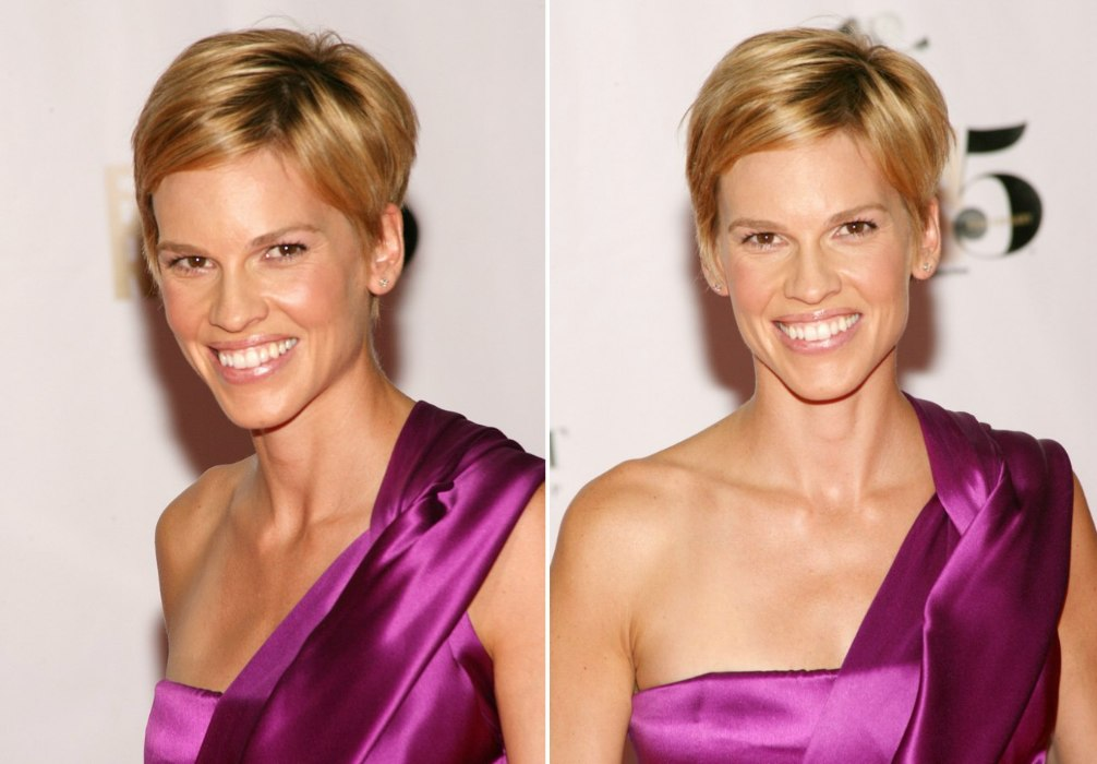 Hilary Swank Wearing Her Hair In A Pixie