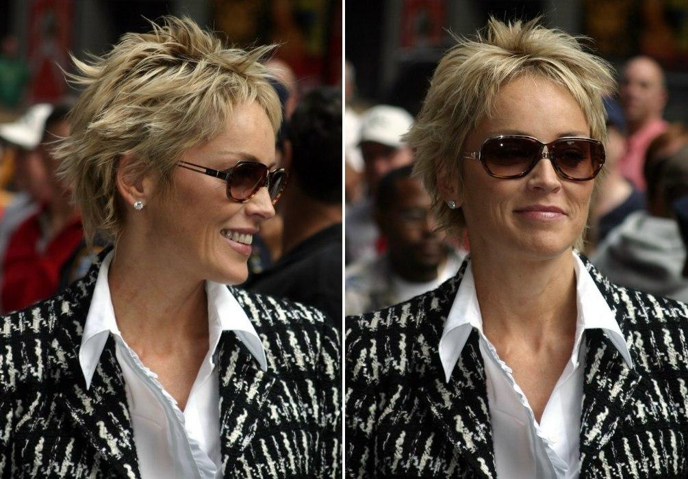Sharon Stone Pixie Hairstyle