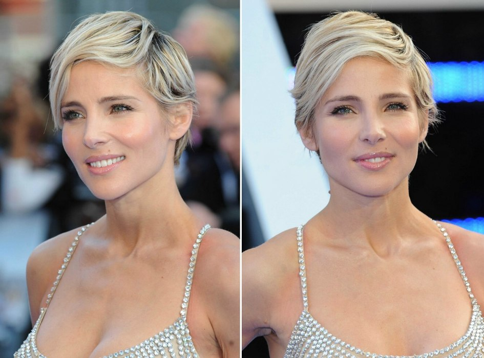 elsa hair style elsa pataky wearing a longer pixie with different tones of 1554