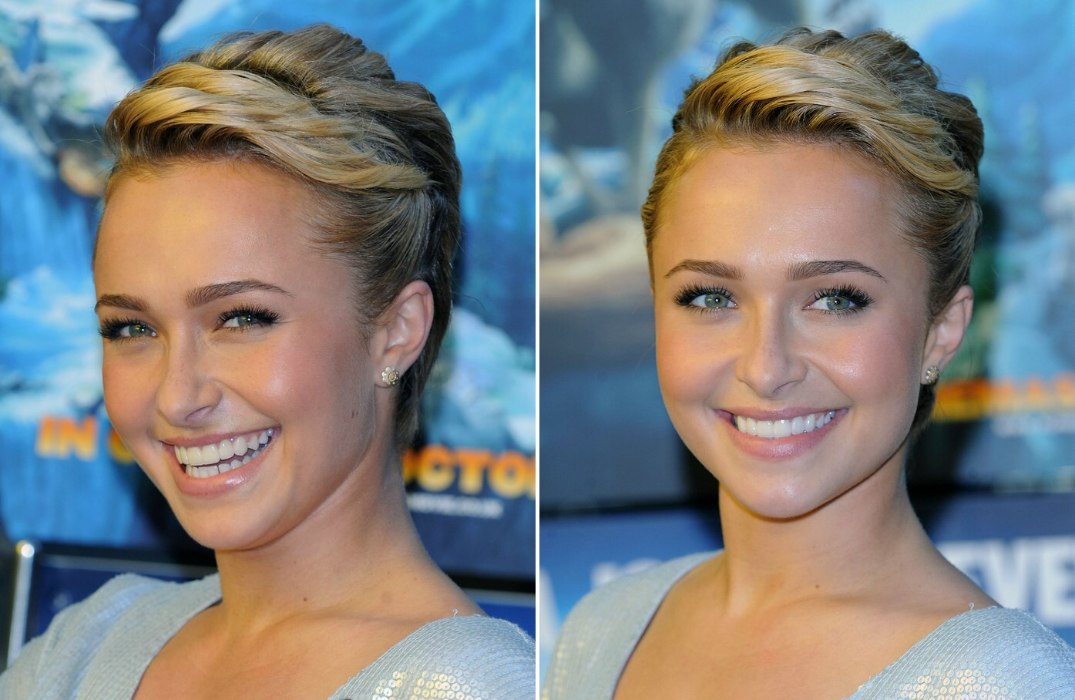 Hayden Panettiere Pixie Hairstyle With Braids And Twisted Hair