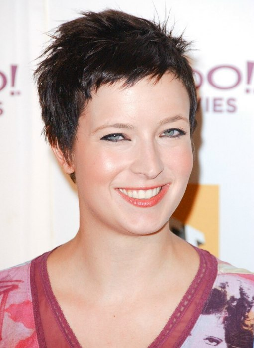 Diablo Cody Short And Shaggy Pixie For Brown Hair