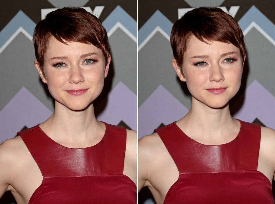 Valorie Curry Classic Pixie With The Hair Cut Out Around The Ears