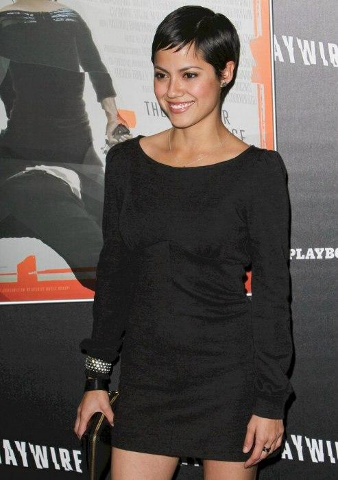 Sylvia Brindis Pretty Pixie With Razor Cut Bangs And