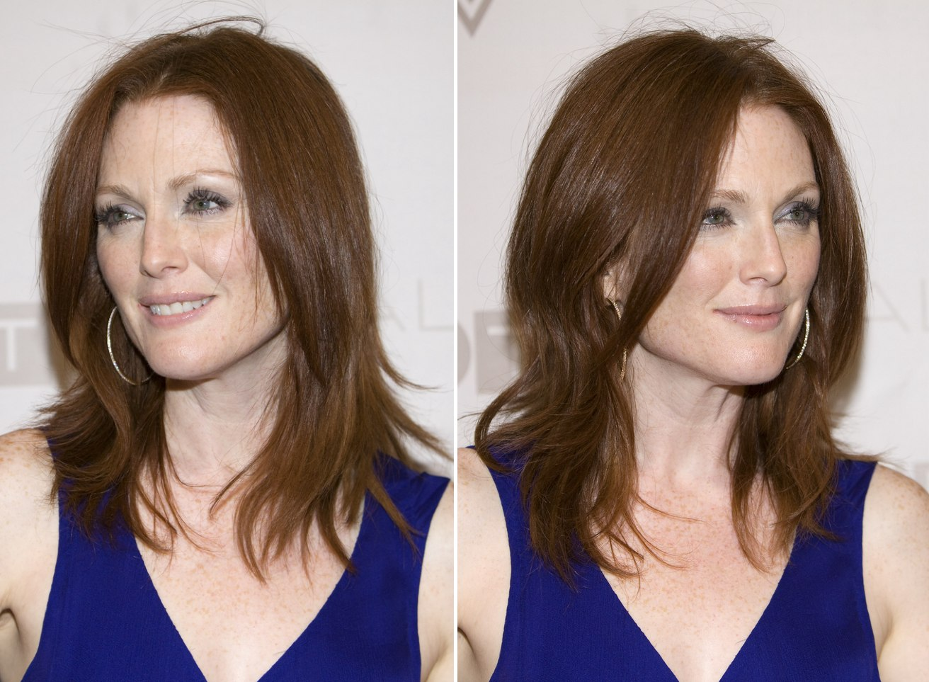 Julianne Moore Sporting A Long Clip With Flippy Ends And